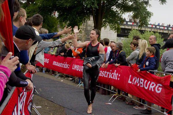 Ironman Maastricht wissel zwemmen fietsen