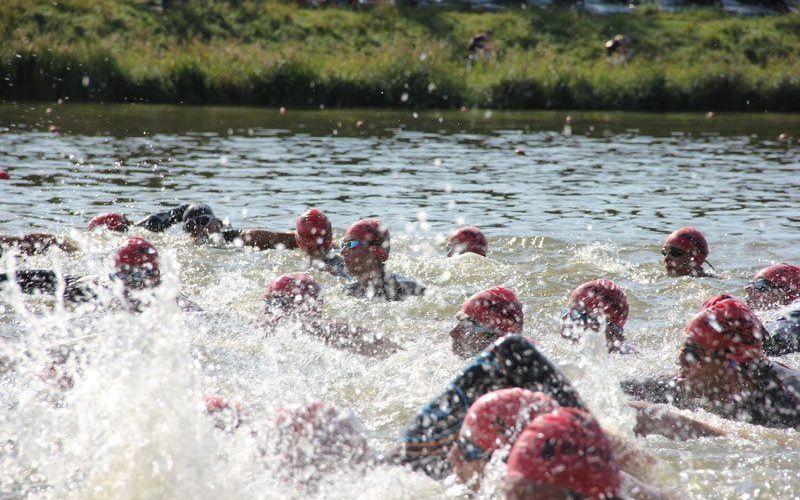 Eerste triatlon - wasmachine tijdens zwemonderdeel