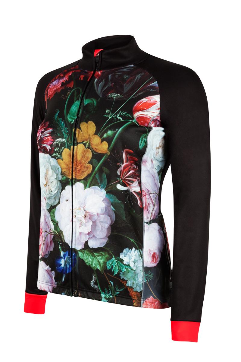 Dames-fietsjack-winddicht-bloemen