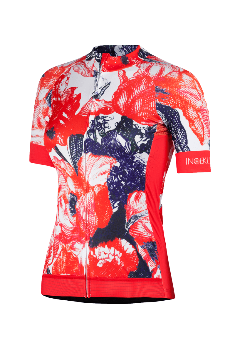 Women_cycling_jersey_Tulipa_flowers