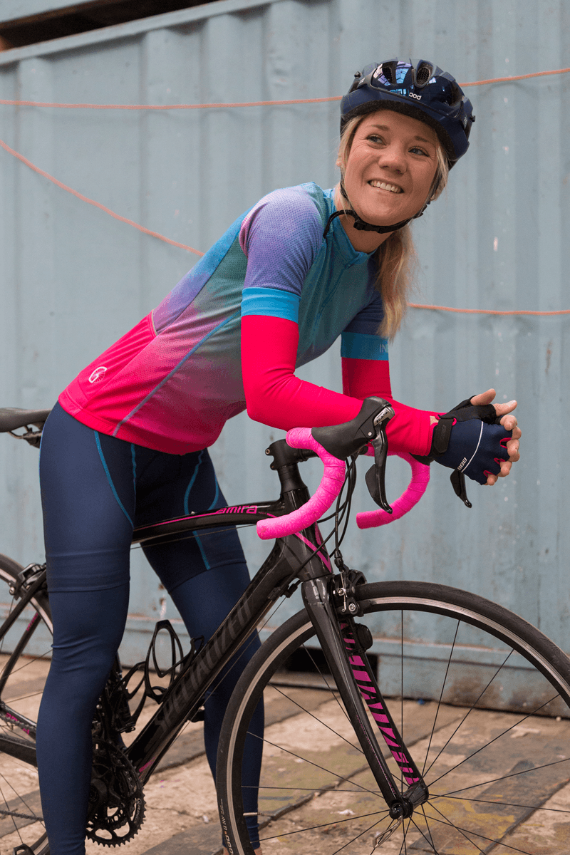 watercolor-dames-fietskleding-set-ingeklikt