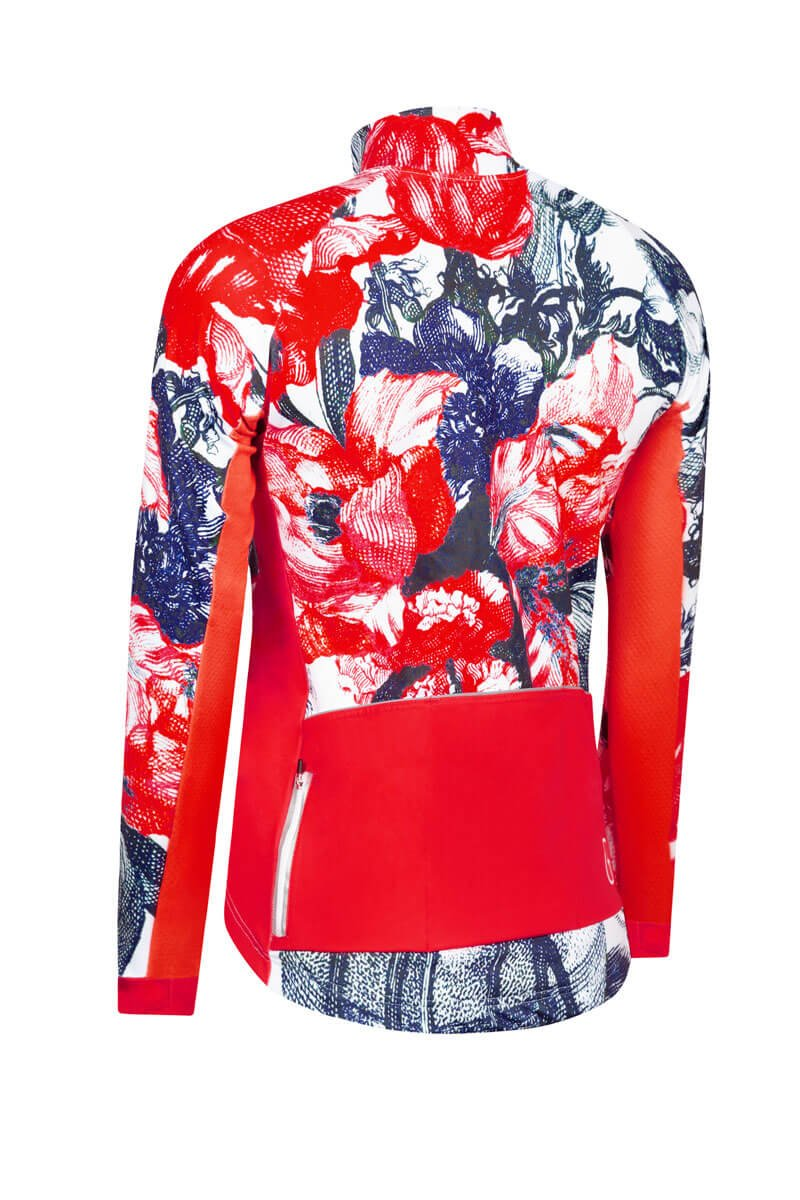 cycling-jacket-flower-red