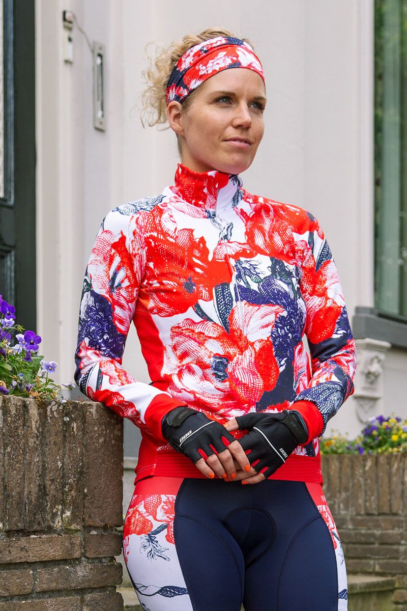 dames-fietsjas-bloemen