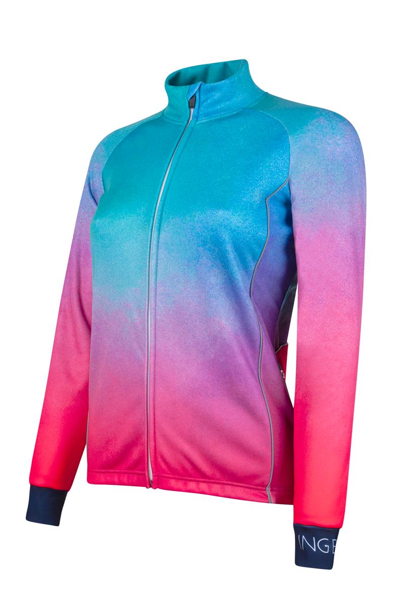 fietsjack-dames-blauw-roze