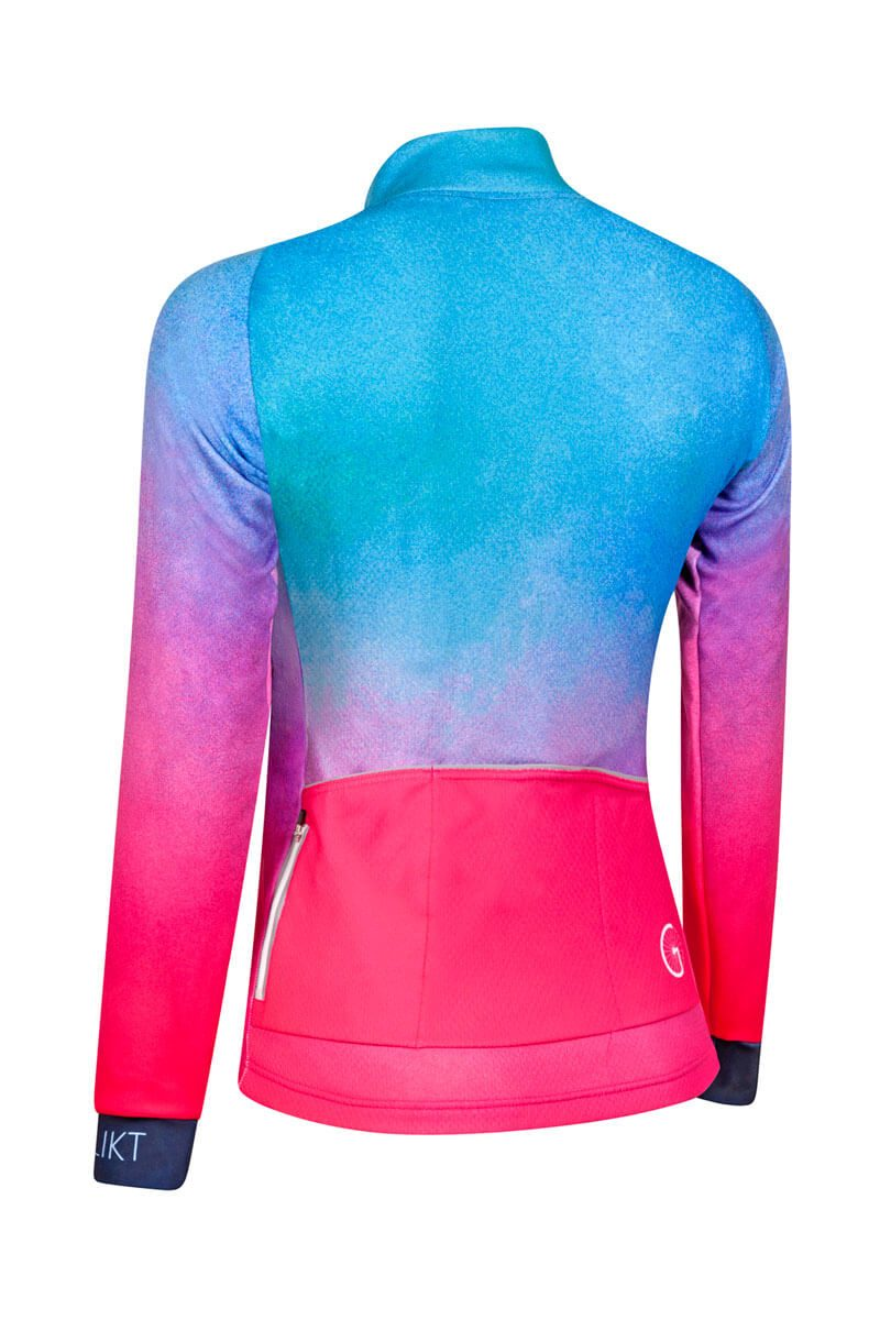 cycling-jacket-women-blue-pink-windproof