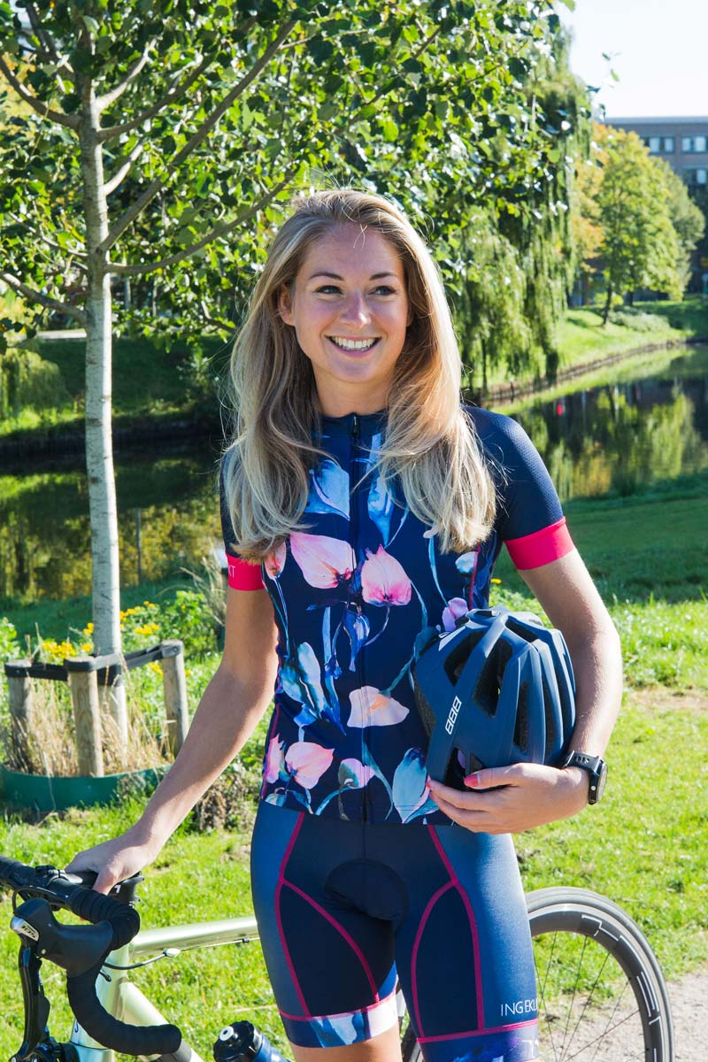 fietsshirt-dames-bloemenprint
