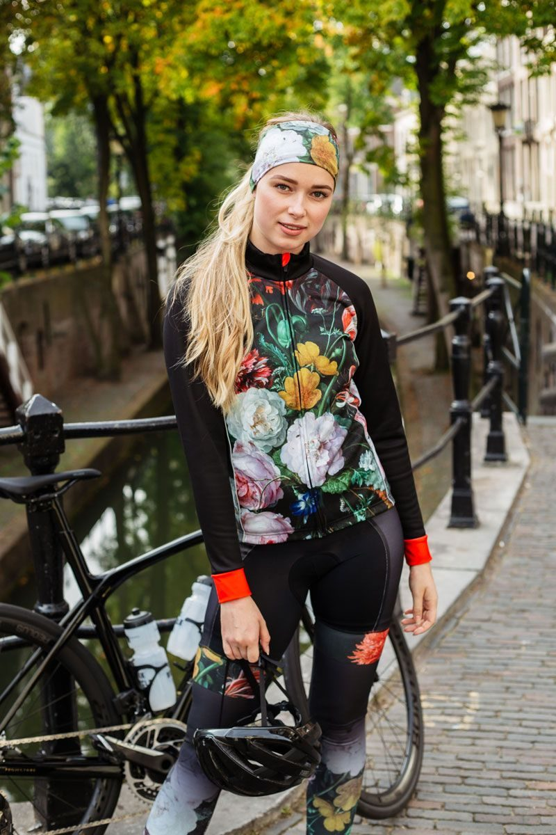 womens-cycling-jacket-flowers-windproof-water-repellant