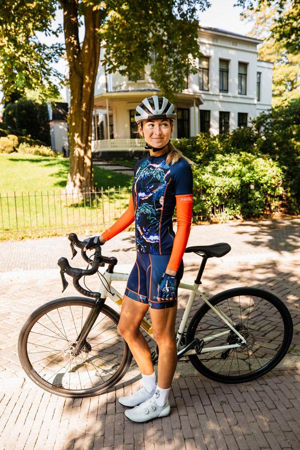 dames-fietskleding-jungleprint-blauw