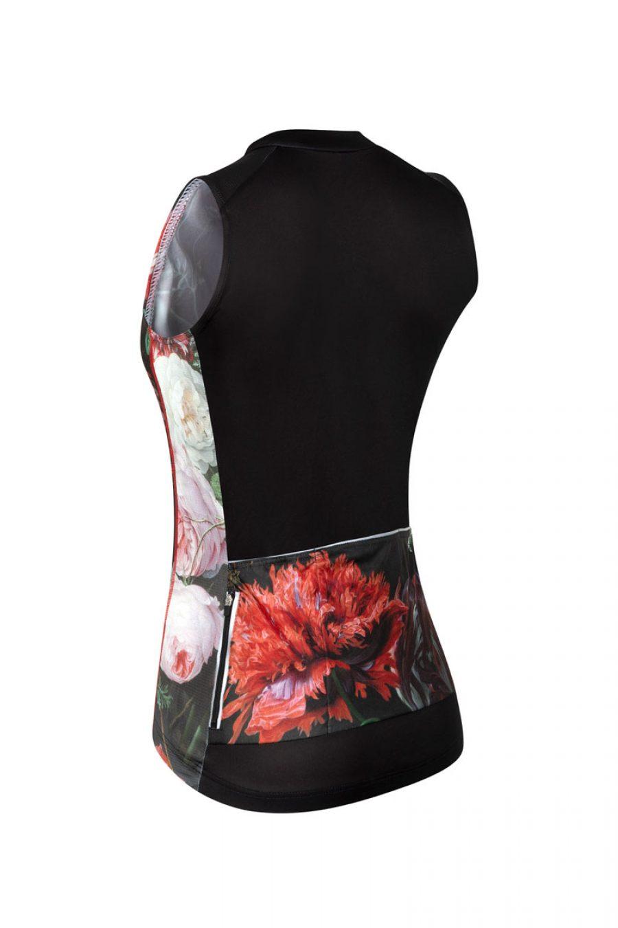 mouwloos-dames-fietsshirt-bloemen