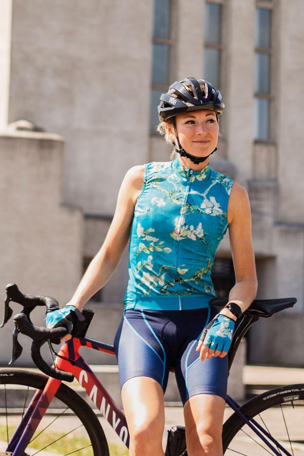 mouwloos-dames-fietsshirt-zeeblauw