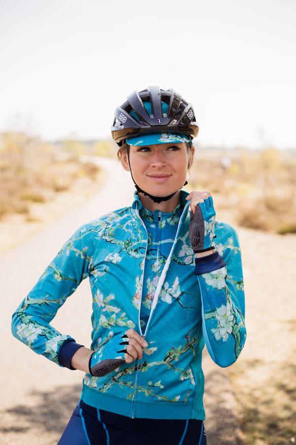 zeeblauw-dames-fietsjack-almond-blossom